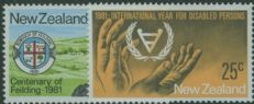 NZ SG1237-8 Commemorations set of 2